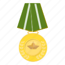 award, cartoon, medal, military, order, striped, victory icon