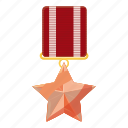 award, cartoon, medal, military, order, star, victory icon