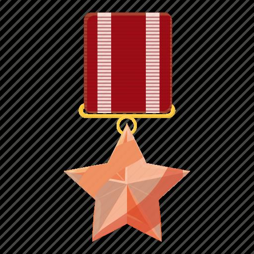 award, cartoon, medal, military, order, star, victory icon