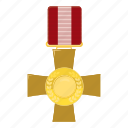 award, cartoon, cross, medal, military, order, victory icon