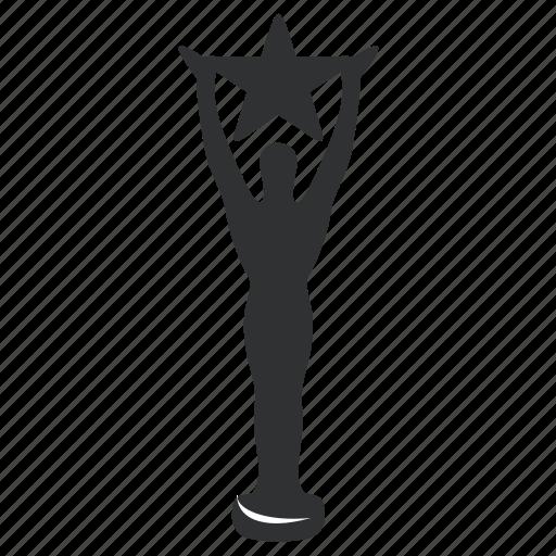 achievement, award, best, champion, first, honor, long, medallion, metal, prize, reward, sport, star, trophy, win, winner icon
