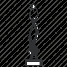 achievement, award, best, champion, dancer, element, first, honor, long, medallion, metal, prize, reward, success, trophy, win, winner icon