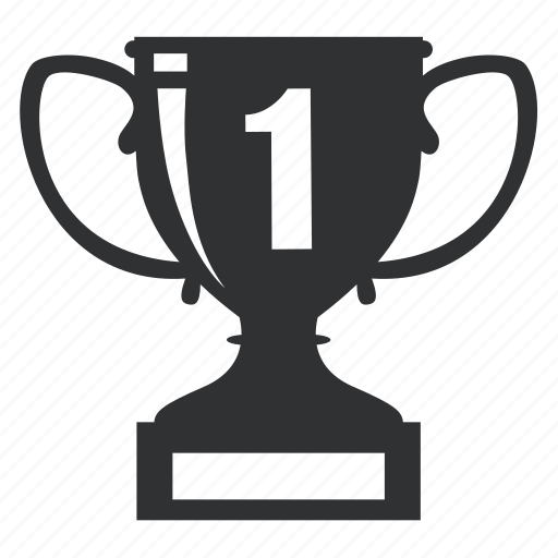 achievement, award, best, champion, cup, element, first, honor, leadership, metal, one, prize, reward, shield, silhouette, sport, success, trophy, victory, win, winner icon