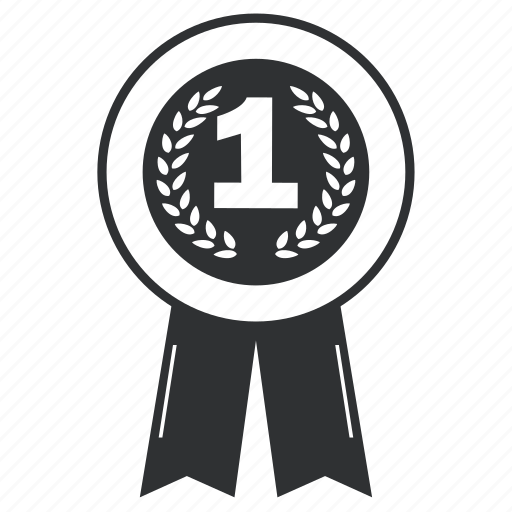 achievement, award, badge, best, collection, element, emblem, insignia, label, ribbon, trophy, win1st, winner icon
