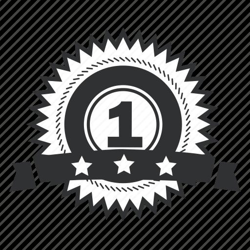 achievement, art, award, badge, best, collection, element, emblem, first, insignia, label, laurel, ribbon, stamp, star, trophy, win, winner icon