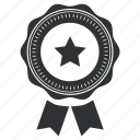 achievement, award, badge, collection, excellent, first, insignia, medallion, power, prize, ribbon, security, star, win, winning icon