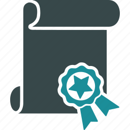 authorize, certification, degree, diploma, legal, quality, script icon