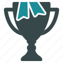 award, gold cup, ribbon, success, trophy, win, winner icon