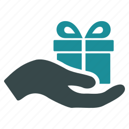 award, free, gift, hand, offer, present, prize icon