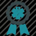 badge, trophy, prize, healthcare, medicine, doctor reward, medical award