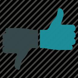 contra, negative, positive, pro, thumb, up down, vote icon