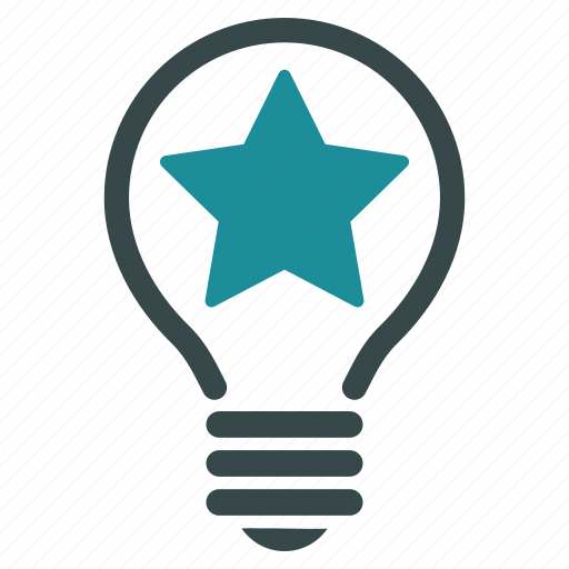 bulb, electric, electricity, lamp, light, power, star icon