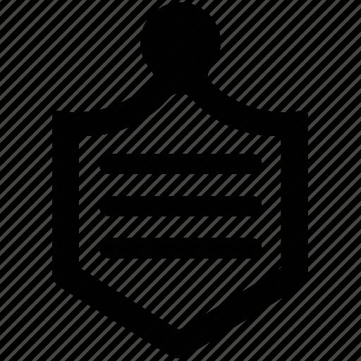 badge, hanging badge, ledger, military badge icon