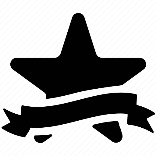 award, prize award, star and banner, star award, star with banner, star with banner ribbon icon