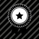 award, badge, prize, quality, ribbon, seal, star, sticker icon