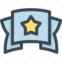 award, prize, ribbon, star, trophy, win, winner icon