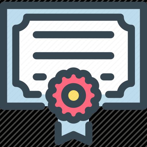 Award, certificate, diplom, diploma, prize, trophy, winner icon - Download on Iconfinder