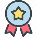 award, badge, prize, ribbon, star, trophy, winner icon