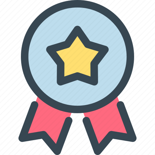 award, badge, prize, ribbon, star, trophy, winner icon