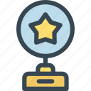 award, cup, prize, star, trophy, win, winner icon