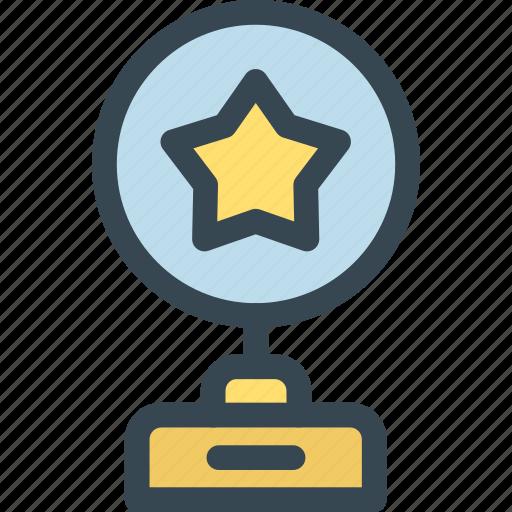 award, cup, prize, star, trophy, win, winner icon
