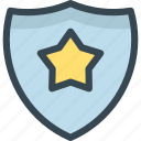 award, prize, shield, star, trophy, win, winner icon