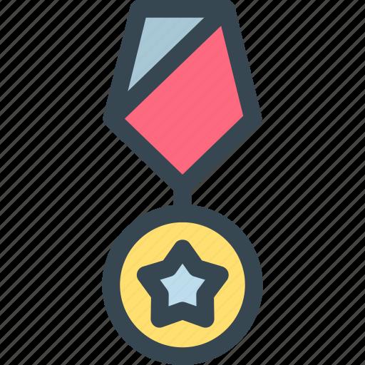 award, medal, prize, star, trophy, win, winner icon
