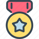 award, medal, prize, star, trophy, win, winner icon