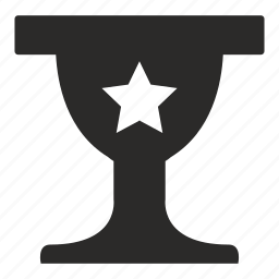 award, cup, prize, star icon