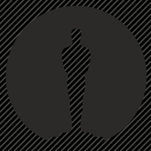 award, oscar, round icon