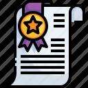 diploma, patent, certificate, degree, award