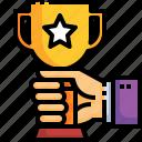 champion, winner, hand, awards, cup