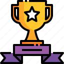 champion, winner, ribbon, trophy, cup icon