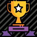 champion, winner, ribbon, trophy, cup