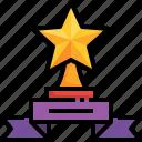 champion, winner, ribbon, star, trophy