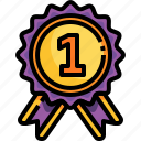 medal, first, competition, winner, reward