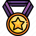 prize, medal, competition, star, achievement