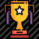 winner, ribbon, gold, trophy, cup