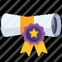 award, certificate, winner, medal, diploma