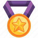 achievement, star, competition, medal, prize icon