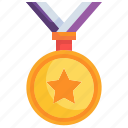 award, certification, quality, star, medal icon