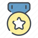 achivement, award, best, medal, star icon