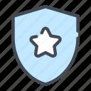 award, shield, star, winwinner icon