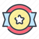 badge, award, win, ribbon, star