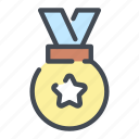 award, medal, place, win, winner icon