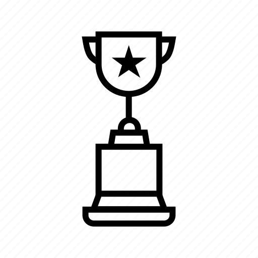 acheivement, award, prize, star award, winning cup icon