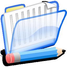 azul, documentos icon