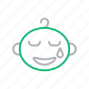weeping, kids, crying, baby, tears icon