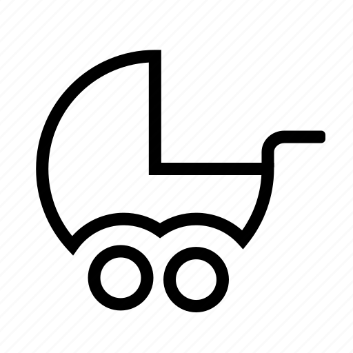 baby, stroller icon icon