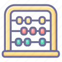 abacus, baby, calculation icon